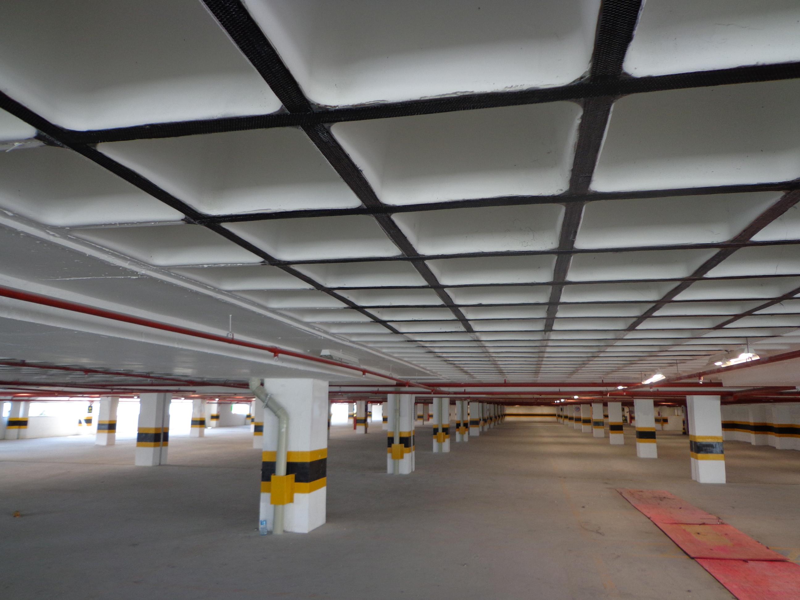 Reforço Estrutural com Fibra de Carbono em Shopping Center