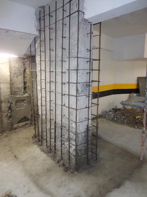 Reforço de Pilar em edifício comercial